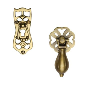 Brass Drop Pull Cabinet Handles