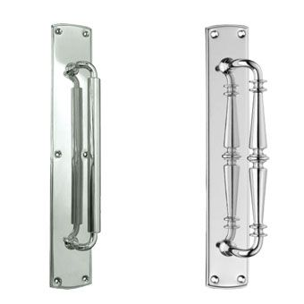 Frelan Hardware Silver Pull Handles on Backplate