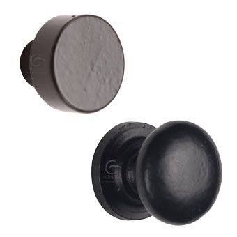 From the Anvil Black Round Cabinet Knobs