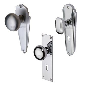 Silver Door Knobs on Backplate