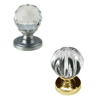 Glass Door Knobs on a Rose