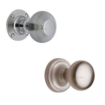 Carlisle Brass Silver Door Knobs on Rose