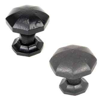 Black Octagonal Cabinet Knobs