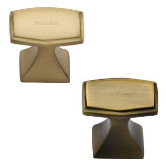 Brass Square Cabinet Knobs