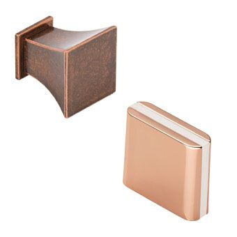 Copper Square Cabinet Knobs