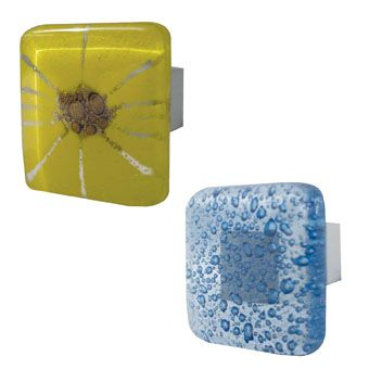 Glass Square Cabinet Knobs