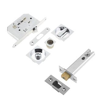 Frelan Hardware Silver Bathroom Locks
