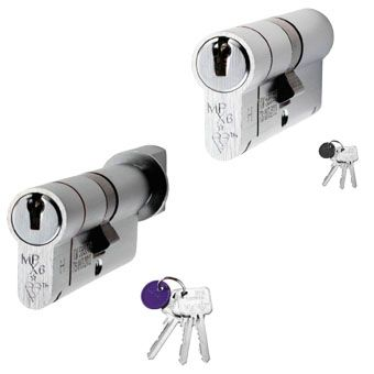 Silver Euro Lock Cylinders
