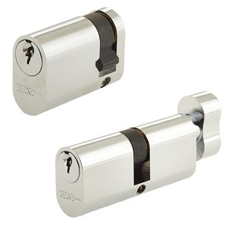 Silver Oval Lock Cylinders