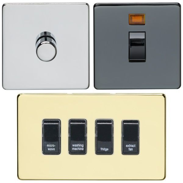 Crabtree Concealed Fix Switches