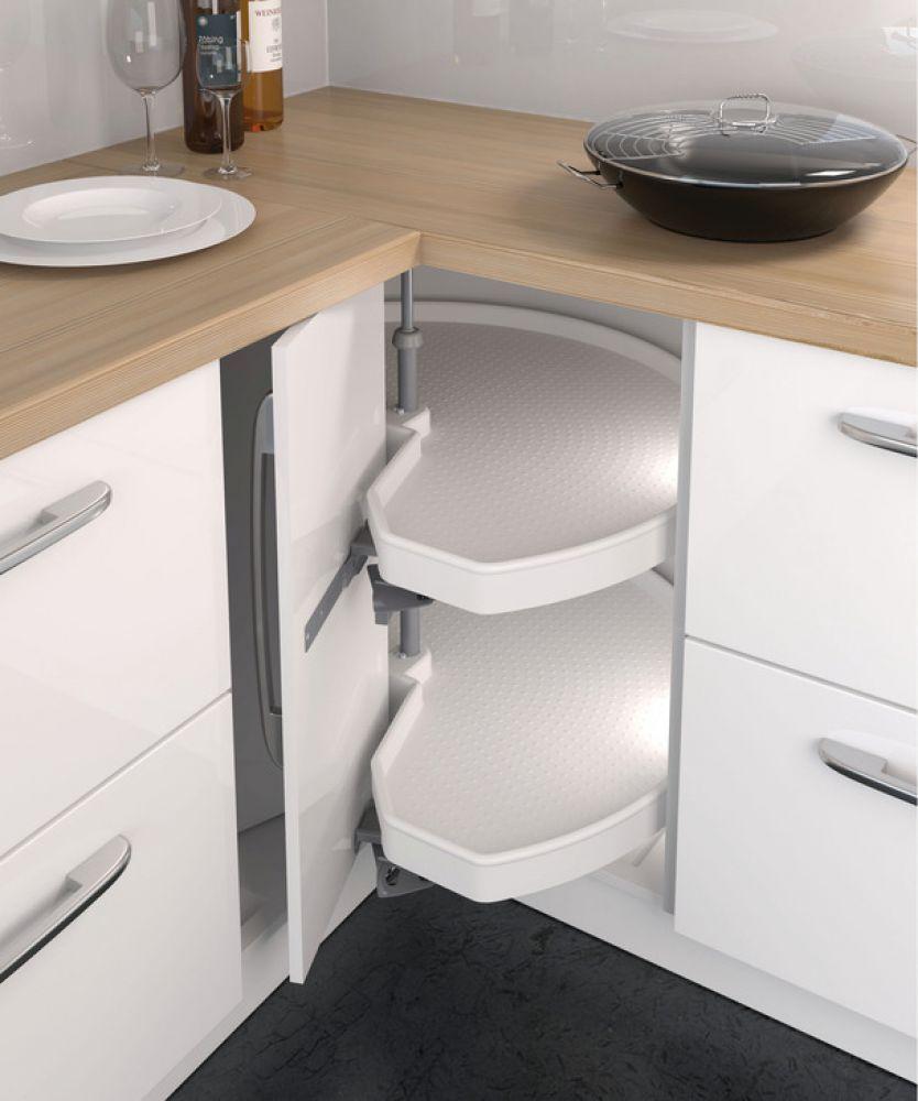 Complete Corner Carousel Unit For 90 Angled Doors Ninka Mondo Kitchen Storage