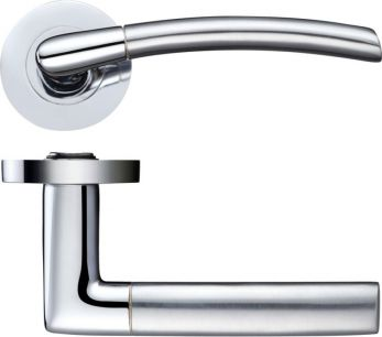 Lucca ZPZ090CP Designer Polished Chrome Internal Door Handles Lever ZOO brand