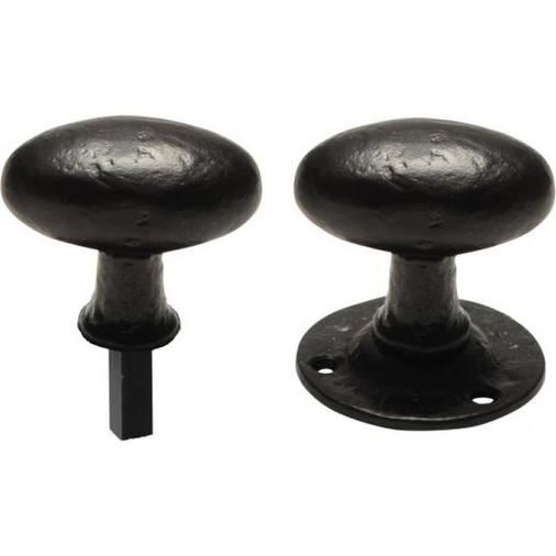 1550 RIM - black antique rim lock door knobs