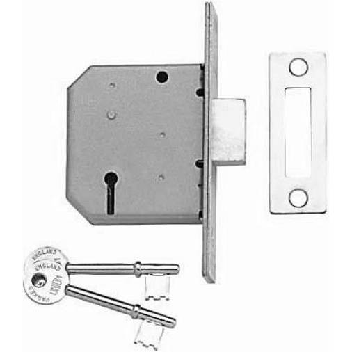 Union 3291 - mortice deadlock 3 lever 75mm satin