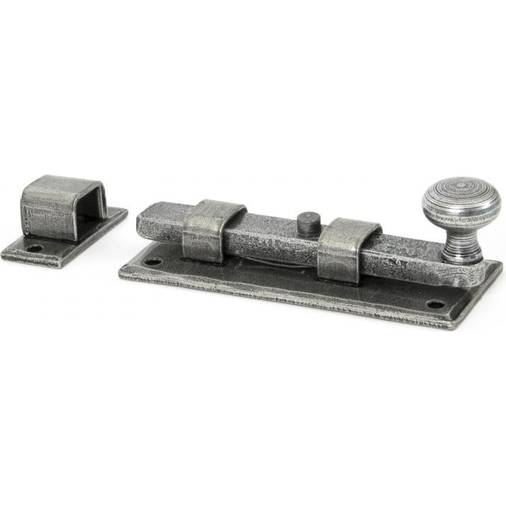 "Anvil 33720 Pewter 4"" Straight Knob Door Bolt"