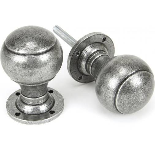 Anvil 45156 Pewter Regency Mortice/Rim Door Knob Set