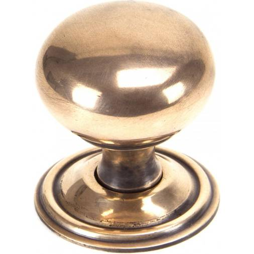 Anvil 91949 Polished Bronze 38mm Mushroom Cabinet Knob