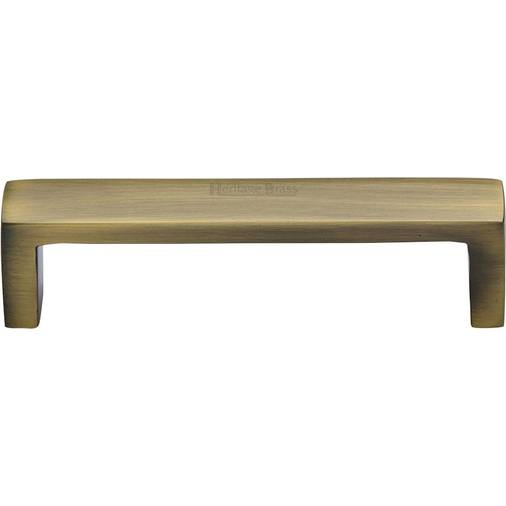 203mm CTC Cabinet Pull Handle Traditional Design 96mm C0376 Heritage Brass