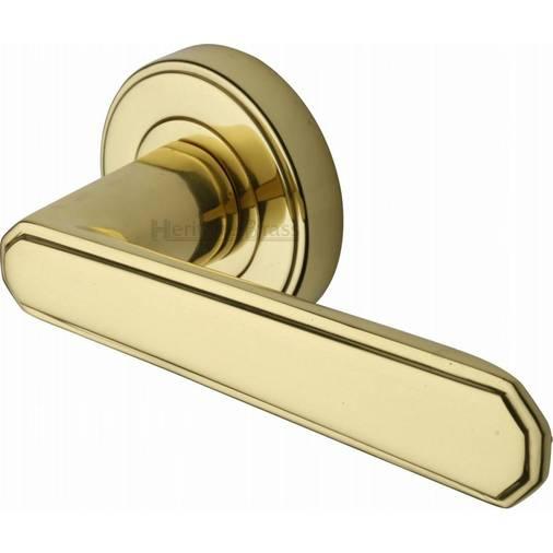 Heritage Brass CEN1924-PB CENTURY Polished Brass Lever Door Handle ...