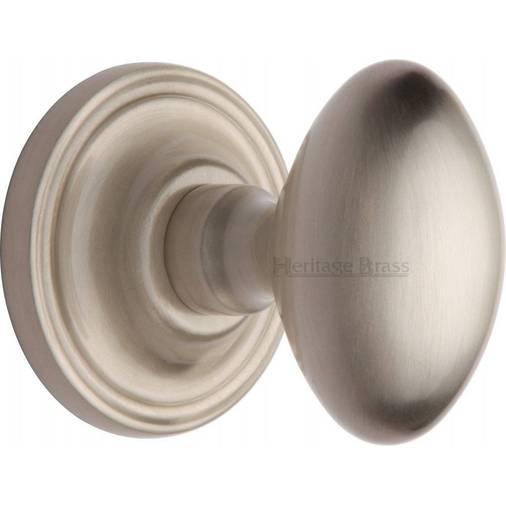 Chelsea CHE7373 SN Satin Nickel Oval Concealed Fix Door Knobs