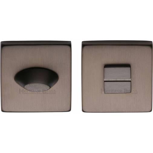heritage brass thumbturn emergency release for bathroom bedroom doors matt bronze finish - Bedroom Doors