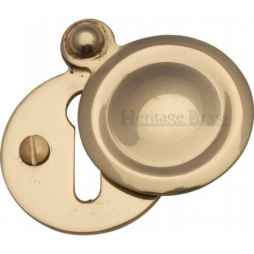 Square Keyhole Cover Escutcheon 50mm x 50mm Screws by Frelan Jedo Polished Brass