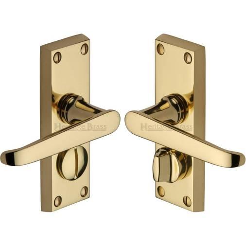 Victoria V3935 Pb Polished Brass Privacy Latch Door