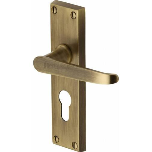 victoria v3948 at antique brass euro lock door handles