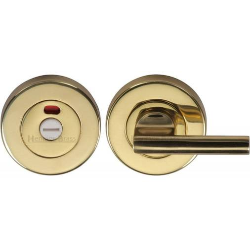 Heritage Brass Indicator Turn Release For Bathroom Doors Polished Brass Finish