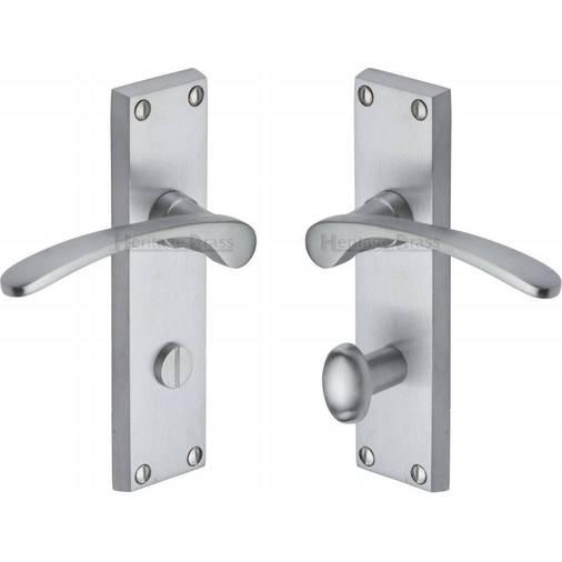 bathroom door handles gold sophia v4142 sc satin chrome bathroom door handles