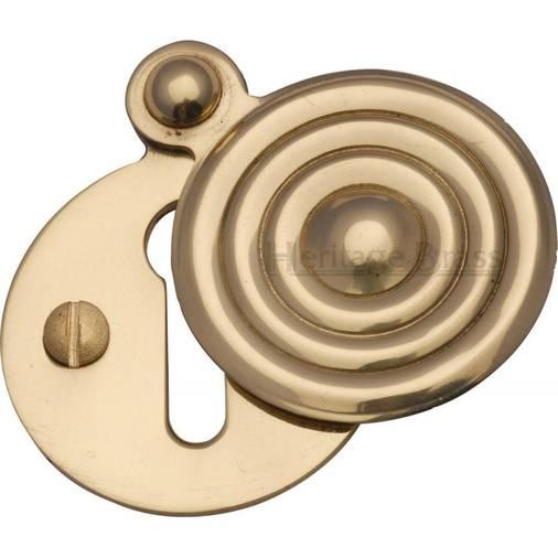 Brass//Chrome//Satin Reeded Escutcheon Key Covered Plates For Door Locks-32mm