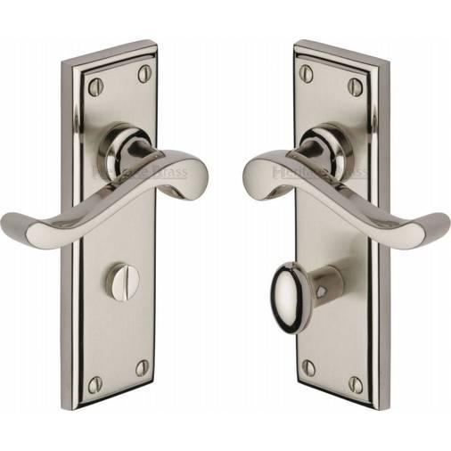 Edwardian W3220 Mc Scroll Bathroom Set Handles Dual Nickel
