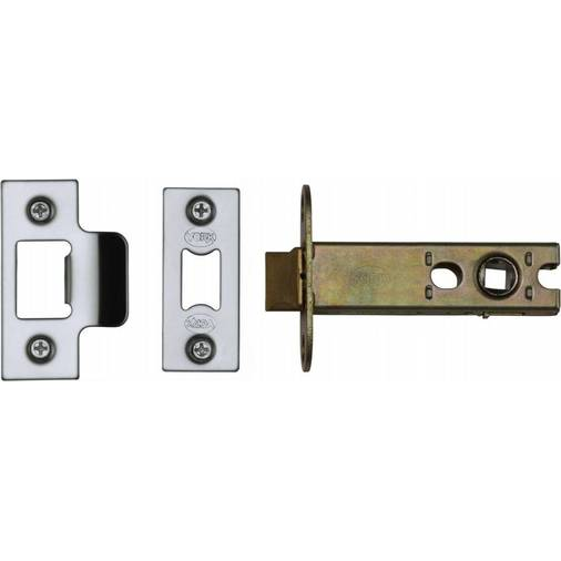 "York Architectural Tubular Latch 4"" Polished Chrome/Nickel finish"