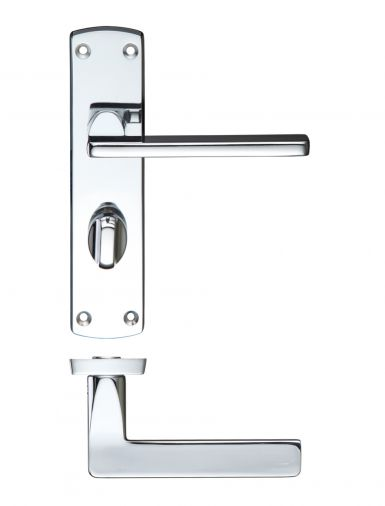 Polished Chrome Bathroom Door Handles