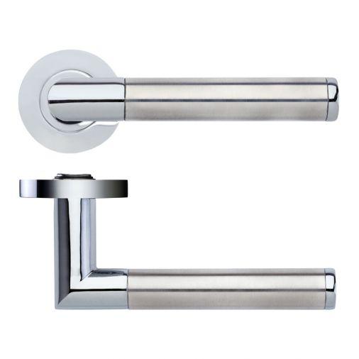 Luna ZPZ170CPSS chrome & stainless steel door handles