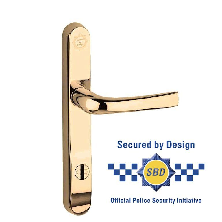 Prosecure 050204 92mm Euro Lock Handles 240mm Long Gold