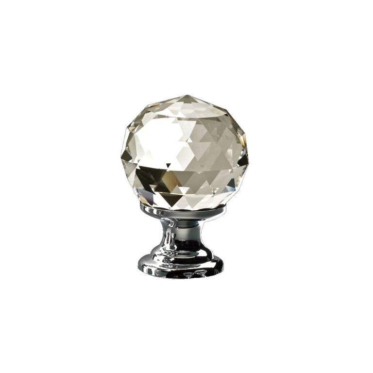 Swarovski crystal 2000 30 cp polished chrome 30mm cupboard knob