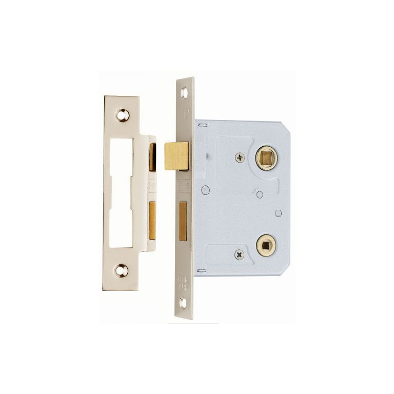 Carlisle brass bl3 contract bathroom lock 76mm brass for Brass bathroom door handles with lock