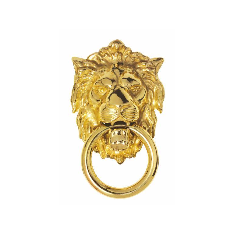Carlisle brass fg8c polished brass lions head door knocker - Brass lion head door knocker ...