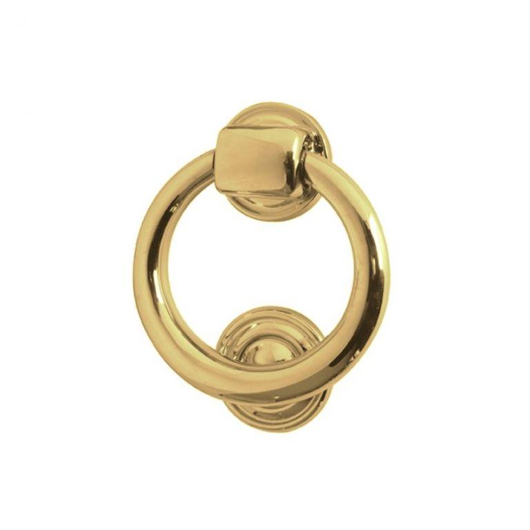 Frelan Jv37pb Polished Brass Ring Door Knocker Door