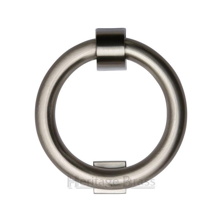 Heritage k1270 sn door knocker ring 107mm satin nickel door knockers - Nickel door knocker ...