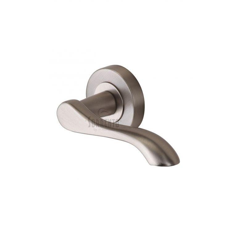 Aurora sc 7352 sn door handles on rose satin brushed nickel - Interior door handles brushed nickel ...