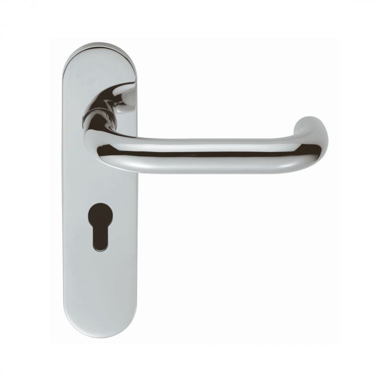 Eurospec Swoebss Polished Stainless Steel Euro Lock Handles