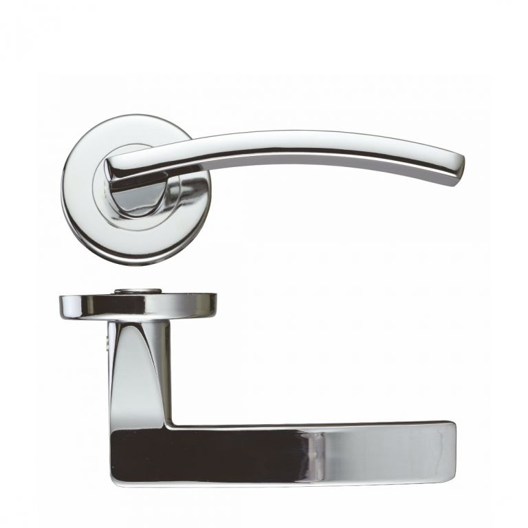 Toledo Zcz030cp Polished Chrome Door Handles