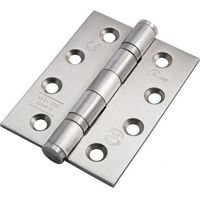 "Ball Bearing Door Hinge in Stainless Steel, Fire Rated, (102mm x 76mm / 4"" x 3"") 