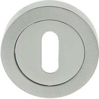 Frelan JV503PCSC - polished/satin chrome keyhole escutcheon