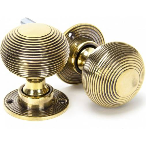 Anvil 83633 beehive mortice / rim knobs aged brass