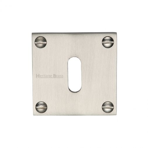Euro Profile High Quality Square Escutcheon Plate Lock Keyhole Cover Satin Stainless Steel