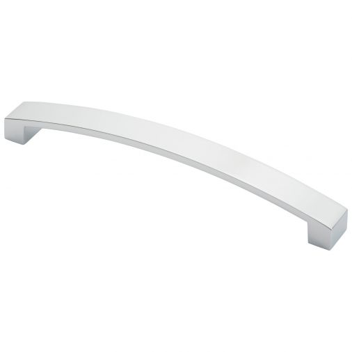 Curva Bow Ftd3160bcp Polished Chrome 224mm Cabinet Handle Silver Bow Cabinet Handles